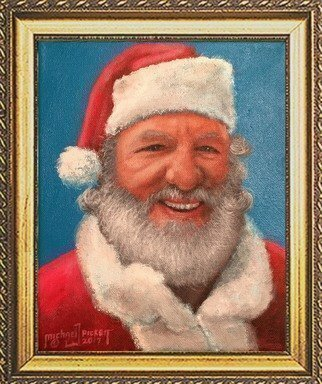 Michael Pickett: 'real santa', 2017 Acrylic Painting, Portrait. Artist Description: You can learn how to paint this painting at pickettonline. com...