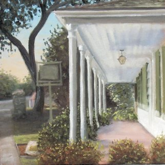 Heather Patterson: 'Looking Down the Porch: Square House Museum', 2008 Oil Painting, Undecided.