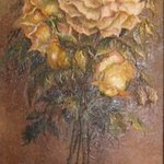 Painting in oil Bouquet of roses By Nagy Alida