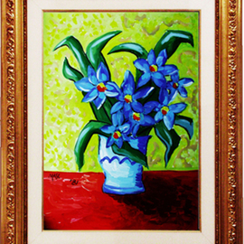 Pier Mascanzoni: 'Vaso Fiori', 1981 Other Painting, Floral. Artist Description: private collection...