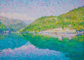 Vlad Paduraru: 'Landscape Barcis S1  5', 2017 Oil Painting, Landscape. Artist Description: landscape, lake, barcis , italy, colors, light...
