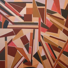 Pilar P�rez-prado: 'At the end everything matches', 2013 Acrylic Painting, Geometric.