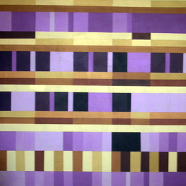Pilar P�rez-prado Artwork Musical Experiment III Blues, 2008 Acrylic Painting, Geometric