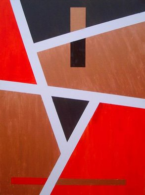 Pilar P�rez-prado Artwork Reality and Memory I Memory, 2004 Oil Painting, Geometric