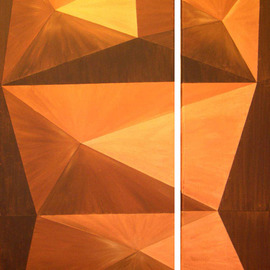 Pilar P�rez-prado: 'Woman', 2003 Acrylic Painting, Geometric. Artist Description:   60. 0 ...