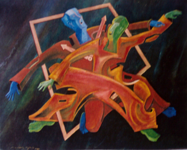 Jorge De La Fuente  'TRASTIEMPO', created in 1991, Original Painting Oil.
