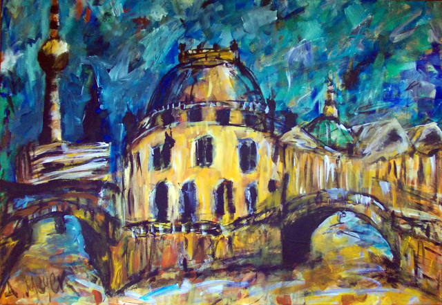 Artist Alan Meyer. 'Berlin' Artwork Image, Created in 2009, Original Painting Oil. #art #artist
