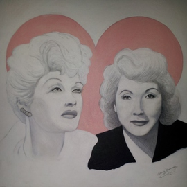 Patricia Cummings Artwork Lucille and Vivian, 2014 Acrylic Painting, Portrait