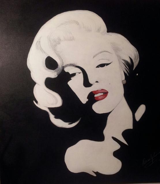 Marilyn Monroe Acrylic Painting By Patricia Cummings
