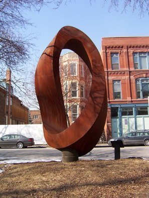 Plamen Yordanov: 'Double Mobius Strip  ', 2005 Steel Sculpture, Abstract. Artist Description:  Sculpture - Welded Steel...
