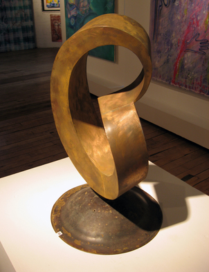 Steel Sculpture by Plamen Yordanov titled: Right Angle Mobius Strip, 2009