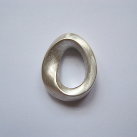 Silver Double Mobius Strip
