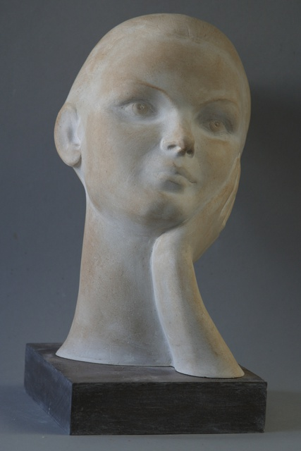Penko Platikanov  'Portrait Of Lana', created in 2015, Original Sculpture Bronze.