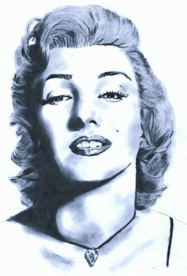 Pencil Drawing by Paul Jones titled: Marilyn Monroe, 2014