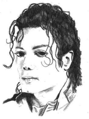 Pencil Drawing by Paul Jones titled: Michael Jackson, 2014