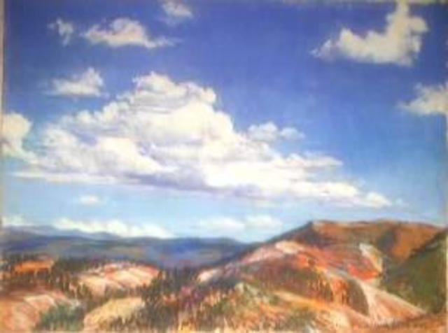 Paula Wilson  'Afternoon Clouds Over The Western Rockies', created in 2003, Original Sculpture Other.