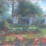 View of the Rose Garden By Paula Wilson