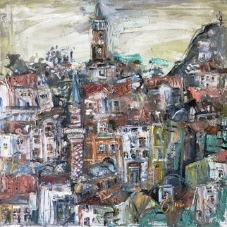 Svetla Andonova: 'plovdiv 9 2018', 2018 Oil Painting, Impressionism. Artist Description: Category	Oil paintingSubject	Architecture and cityscapesSubstrate	CanvasMaterials	Oil colors on canvasStyle	ImpressionisticDimensions	40 x 40 x 2 cm  unframed    40 x 40 cm  actual image size Framing	This artwork is sold unframed...