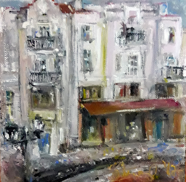 Svetla Andonova  'Plovdiv The Crown 45 2017', created in 2017, Original Painting Acrylic.