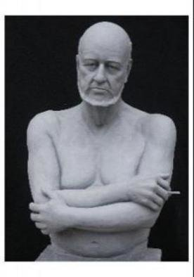 Polly Plain: 'The Smoker', 2006 Other Sculpture, Representational. Can be cast in Bronze, plaster, resin   ...