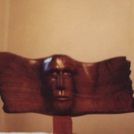 Lazar Toshkin Artwork Ghost, 2004 Wood Sculpture, Abstract