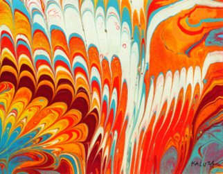 Les Kaluza Artwork marbling, 1995 marbling, Other