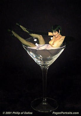 Philip Dallas: 'Martini Girl', 2001 Other Photography, Erotic. Photography- Digital Art.Retro Pinup art Nude . Archival fine- art print on watercolor paper, limited edition.To see more artwork, please visit my website: