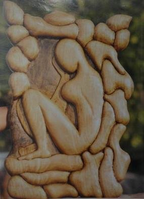 Pradeep Lal: 'Thinking Lady', 2011 Wood Sculpture, Philosophy. Artist Description:  This is totally handmade wooden work showing a lady with posture of thinking.Thinking for . . . . . . her better future with happiness or future' s problem with sadness? . It depends on our thoughts where our mind surfs, whether it flies in joy on sky or sink in vast ocean of ...