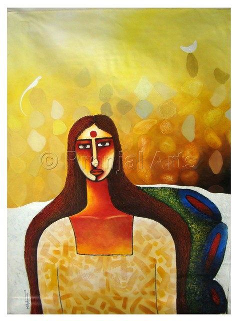 Pranjal Arts  'Woman A One Man Army', created in 2019, Original Painting Acrylic.