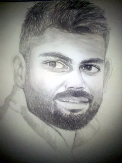 Prikesh Ravi  'Virat Dry Brush Art', created in 2017, Original Paper.