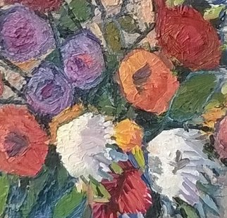 Dan Marian Radulea Artwork G191 Flori, 2000 Oil Painting, Floral