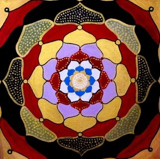 Diana Sterna Artwork Mandala, 2008 Oil Painting, Mandala