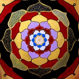 Diana Sterna: 'Mandala', 2008 Oil Painting, Mandala. Artist Description:  Oriental  ...