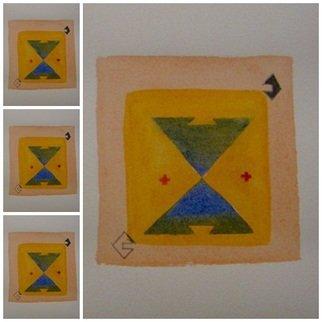 Ivana Kosanovic Artwork 'Laj Kuche', 2015. Watercolor. Geometric. Artist Description: Inspired by Pirot kilim patterns. ......