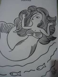 Priti Ravindran Artwork Mermaid, 2015 Other Drawing, Mystical
