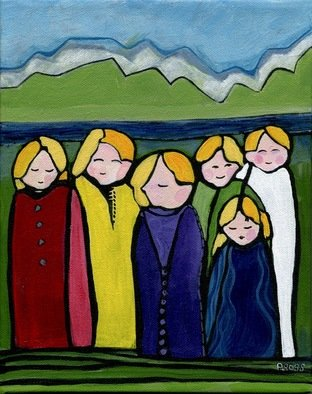 Artist: Patricia Ross - Title: Gathering 17 - Medium: Acrylic Painting - Year: 2012