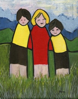 Artist: Patricia Ross - Title: Gathering 18 - Medium: Acrylic Painting - Year: 2012