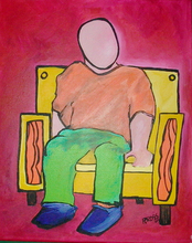- artwork Sitting-1249150595.jpg - 2007, Painting Acrylic, Figurative