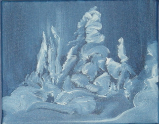 Patricia Ross Artwork snow ghost sunpeaks, 2010 Acrylic Painting, Abstract Landscape