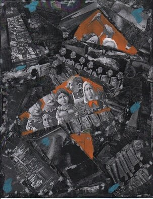 Collage by Shahar Gold titled: Ganger Familie, created in 2008