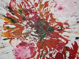 Joyce Pryde: 'poppies', 2006 Oil Painting, Abstract.  small painting on board, 30cmsx35cms ...