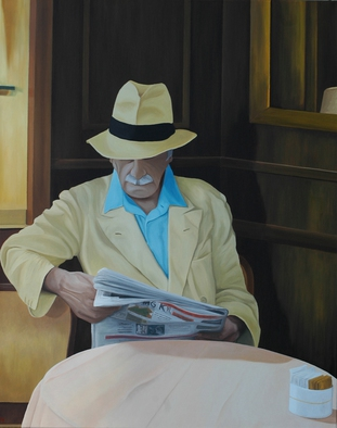 Artist: Peter Seminck - Title: Morning Paper - Medium: Oil Painting - Year: 2013