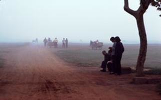 Artist: Paul Slaughter - Title: Foggy Morning in Annui - Medium: Color Photograph - Year: 1986