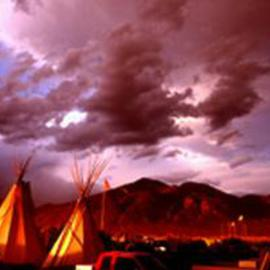 Paul Slaughter: 'Taos Pow Wow', 1997 Color Photograph, Landscape. Artist Description: (c) Paul Slaughter-The Taos Pow Wow in the late eveningat Taos, New Mexico.  Available as a fine art print on Fujicolor Crystal Archive paper....