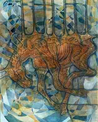 Artist: Lubomir Korenko - Title: Animal Liberation,Batchery - Medium: Acrylic Painting - Year: 2009
