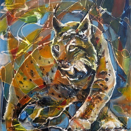 Lubomir Korenko Artwork Wild Europe Lynx , 2016 Mixed Media, Animals