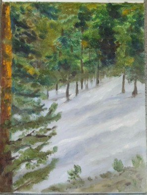 Amrita Banerjee Artwork Snow on the ground, 2015 Oil Painting, Nature