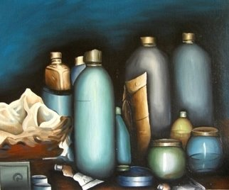 Artist: Lionel Le Jeune - Title: Nature morte - Medium: Oil Painting - Year: 2008