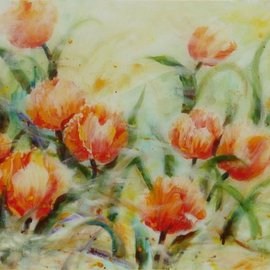 Queenie Lam: 'Summer dance', 2003 Acrylic Painting, Floral.