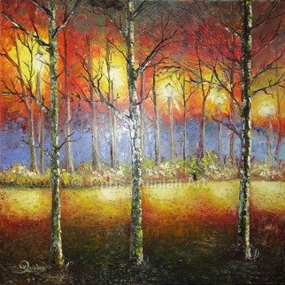 Artist: Chris Quinlan - Title: autumns end - Medium: Oil Painting - Year: 2017
